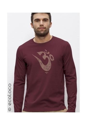 organic tee shirt long sleeves OM YOGA MANTRA fairwear craftman France vegan ecowear