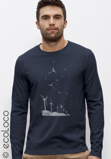 T-shirt bio GRAINES DU FUTUR  imprimé en France artisan manches longues équitable vegan fairwear