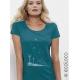 Bio-T-Shirt SAMEN DER ZUKUNFT vegane Kleidung nachhaltige Mode Frau gedruckt in Frankreich Handwerker