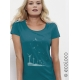 organic women Tee shirt SEEDS OF THE FUTURE fairwear  craftman France vegan ecowear wind turbine