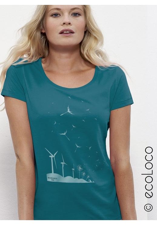 6ca9e5d5bdc T shirt bio imprimé en France Mode ethique femme militant Eolienne ...