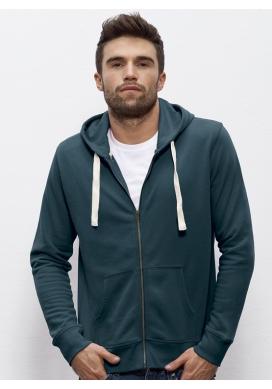 Bio Sweatshirt Kapuzenpulli mit Reißverschluss vegane Bekleidung ethische Mode sportwear