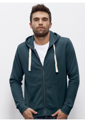 Sweat shirt bio capuche zippé vêtement vegan sportwear