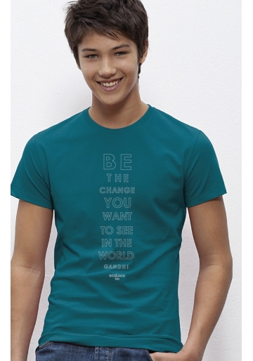 Be the change organic t shirt ecoLoco