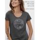 T-shirt bio LA ROUE DE LA VIE modal imprimé en france artisan fairwear vegan