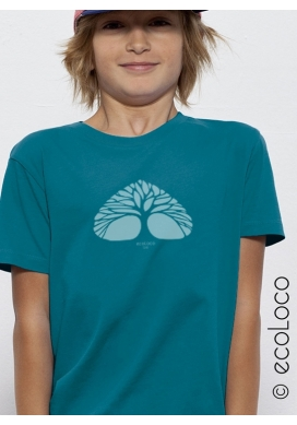 organic children tee shirt BREATHING TREE fairwear craftman France vegan ecowear