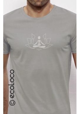 T-shirt bio MEDITATION imprimé en France artisan vêtement équitable vegan fairwear