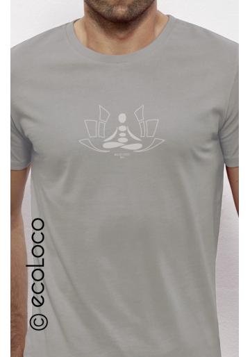 Meditation organic t shirt ecoLoco
