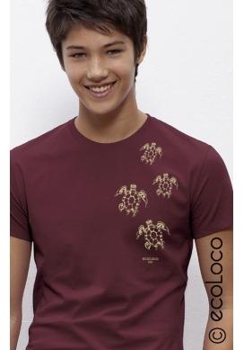 Bio-T-Shirt MAORI-SCHILDKRÖTEN fairwear vegane Bekleidung gedruckt in Frankreich Handwerker