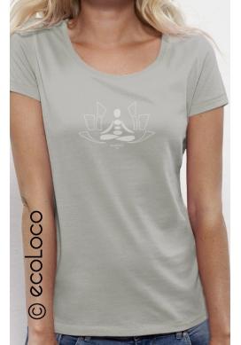 T-shirt bio MEDITATION imprimé en France artisan mode éthique équitable vegan