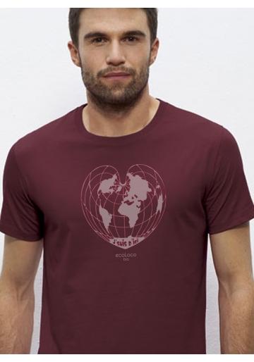 organic tee shirt I'M FROM HERE fairwear craftman France vegan ecowear