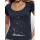 organic women Tee shirt SEEDS OF THE FUTURE fairwear ecofriendly craftman France vegan ecowear wind turbine