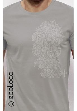 T-shirt bio CORAIL imprimé en France artisan vêtement équitable vegan fairwear - Ecoloco