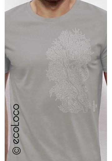 CORAL organic t shirt ecoLoco