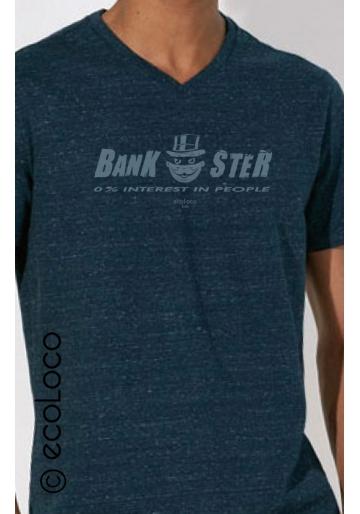 acheter en ligne 226c1 b938f T shirt bio BANKSTER militant anti corruption imprimé en France artisan  vêtement vegan