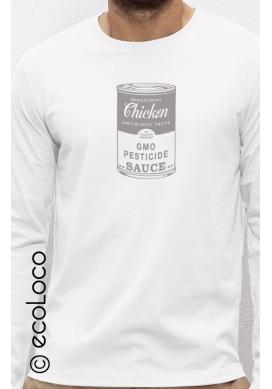 Poulet OGM T shirt bio manches longues ecoLoco