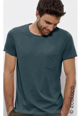 t shirt bio basique mode éthique vegan équitable (avec poche) - Ecoloco