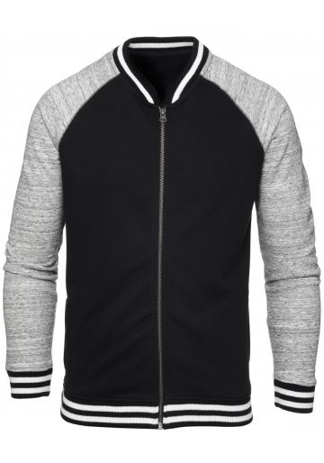Sweatshirt bio zippé two tone