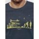 Bio-T-Shirt ÖKOLOGISCHER WANDEL vegane Herrenbekleidung fairwear gedruckt in Frankreich Handwerker