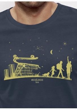 Bio-T-Shirt ÖKOLOGISCHER WANDEL vegane Herrenbekleidung fairwear gedruckt in Frankreich Handwerker - Ecoloco