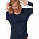 T-shirt bio L'ENVOL manches longues imprimé en France artisan mode éthique équitable fairwear vegan