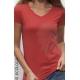 T-shirt bio CORAIL imprimé en France artisan mode éthique fairwear vegan