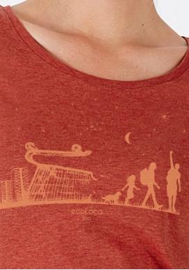Bio-T-Shirt ÖKOLOGISCHER WANDEL vegane Kleidung ethische Mode gedruckt in Frankreich Handwerker - Ecoloco