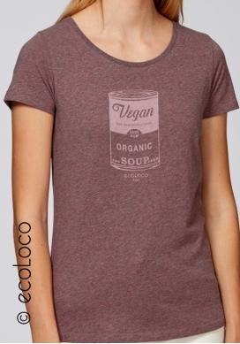 organic women tee shirt VEGAN fairwear craftman France vegan ecowear
