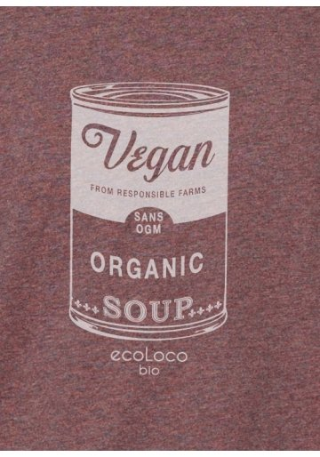 organic tee shirt VEGAN Warhol soup fairwear craftman France vegan ecowear