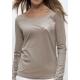 T-shirt bio lyocell GINGKO manches longues imprimé en France artisan mode éthique équitable fairwear vegan