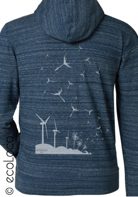 organic sweat shirt SEEDS OF THE FUTURE fairwear craftman France vegan ecowear wind turbine