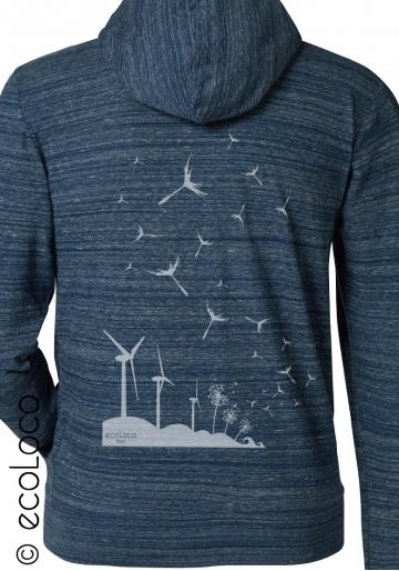 Bio Sweatshirt SAMEN DER ZUKUNFT vegane Bekleidung nachhaltige Mode sportwear gedruckt in Frankreich Handwerker