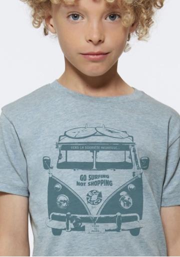organic children tee shirt HAPPY SOBRIETY fairwear craftman France vegan ecowear