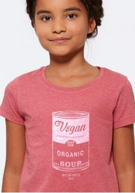 T-shirt bio VEGAN imprimé en France artisan mode éthique équitable vegan enfant - Ecoloco