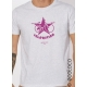 T-shirt bio VELORUTION imprimé en France artisan pour transport doux à vélo  vêtement vegan