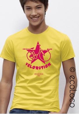 Velorution tee shirt bio vetement  ecoLoco createur