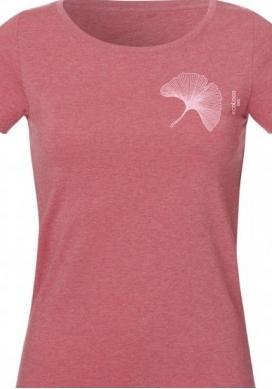 Bio-T-Shirt GINGKO BILOBA vegane Kleidung nachhaltige Mode Frau gedruckt in Frankreich Handwerker - Ecoloco