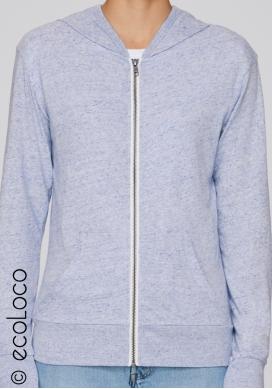 Bio Sweatshirt Kapuzenpulli mit Reißverschluss vegane Kleidung sportwear fairwear - Ecoloco