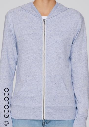 Bio Sweatshirt Kapuzenpulli mit Reißverschluss vegane Kleidung sportwear fairwear