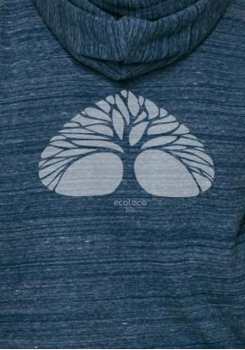 Bio-Sweatshirt ATMEN ethische Mode fairwear gedruckt in Frankreich Handwerker - Ecoloco