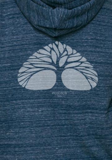 Bio-Sweatshirt ATMEN ethische Mode fairwear gedruckt in Frankreich Handwerker