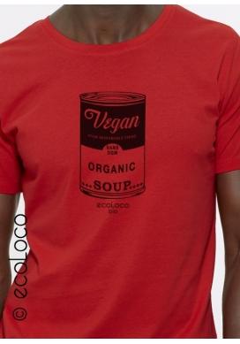 Bio-T-Shirt VEGAN militantes Kollektion ohne GVO gedruckt in Frankreich Handwerker