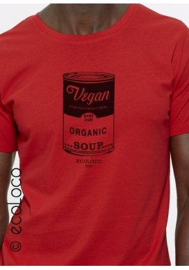 organic men tee shirt VEGAN fairwear craftman France vegan ecowear - Ecoloco
