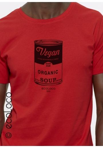 Vegan t shirt bio  vetements ecoLoco createur