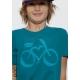 Bio-T-Shirt LOVE VELO vegane Kinderbekleidung nachhaltige Mode fairwear gedruckt in Frankreich HandwerkerBlau