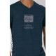 Bio-T-Shirt HUHN OHNE OGM gedruckt in Frankreich Handwerker vegane Herrenbekleidung