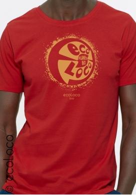 T-shirt bio PLANETE BIO imprimé en France artisan vêtement équitable vegan fairwear - Ecoloco