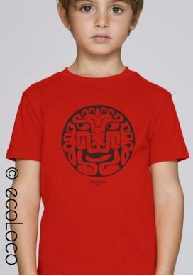 T shirt bio FELIN AMERINDIEN  imprimé en France artisan mode éthique équitable vegan fairwear enfant