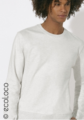 Organic jumper sweat shirt vegan white vegan ecowear - Ecoloco