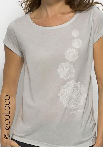 organic modal women tee shirt CABBAGE fairwear craftman France vegan ecowear